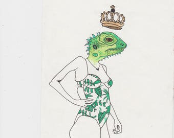 lizard queen (print)