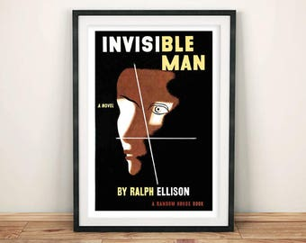 INVISIBLE MAN POSTER: Vintage Book Cover Art Print