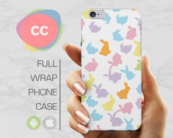 Bunny Rabbit Phone Case - iPhone 8 Case - iPhone 7 Case - iPhone 8, 7, 6, 6S, 5S, 5 Cases - Samsung S8, S7, S6 Case - iPhone Covers - PC-289