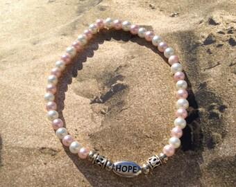Hope Seed Bead Bracelet