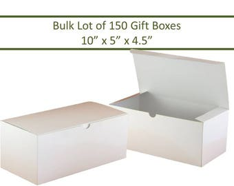 150 White Gift Boxes Wine Glass Boxes Bulk Lot 150 Boxes Glassware Gift Box DIY Party Favor Box Wedding Favor Boxes Champagne Flute Box