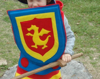 Knight Shield - PRIMARY Colors - Halloween Costume - Halloween Costume - Kid Costume