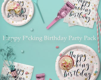 Happy F*cking Birthday - Paper Party Napkins  - mature