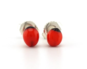 red and black stud earrings, natural jewelry