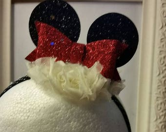 CLEARANCE - Mini Minnie Mouse Ears Headband - Infant, Toddler, Adult