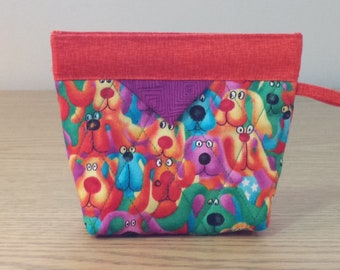 Quilted Snap Bag (SB825) Puppy Dogs