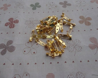 100 PCS 30mmX5mm gold metal bar pin back brooch Create Your Own Hair Accessories