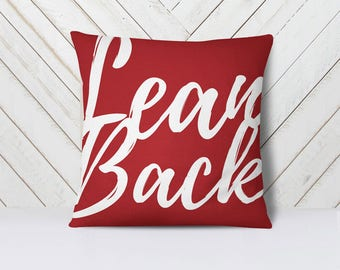 Lean Back throw pillow cover