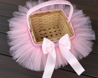 Princess Easter Tutu Basket, Flower Girl Basket, Tutu Basket, Easter Basket