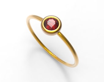 Natural Ruby Ring, Simple Ruby RIng Engagement, Genuine Ruby Rings, Ruby ring gold, 14k Gold Ruby Ring, Ruby ring, SImple gold rings