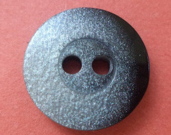 10 BUTTONS Black Silver 16mm (6617) button