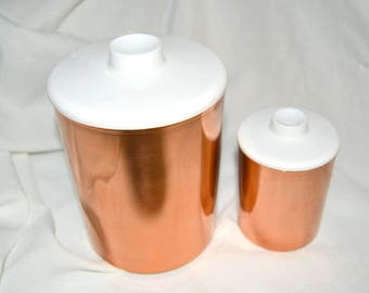 Vintage Kromex Copper Canisters - Sugar and Tea Canisters