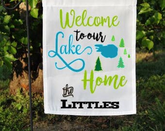 Lake Flag, Lake Decor, Garden Flag, Yard Flag, Lake Home