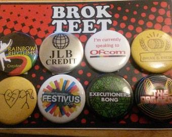 Peep Show Badge set