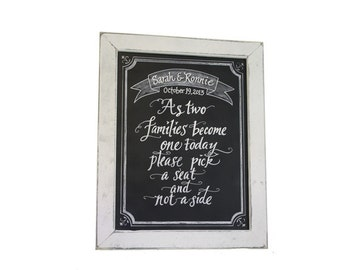 Wedding Choose A Seat - Wedding Chalkboard Art Signage - chalkboard sign