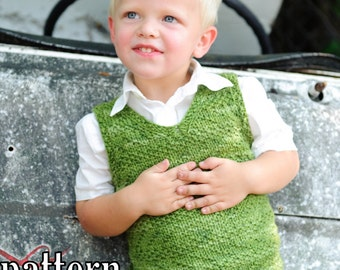make your own Sand Vest (DIGITAL KNITTING PATTERN) Ages 2-12 toddler child tween boy