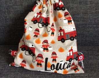 Pouch bag has back school kindergarten children nursery