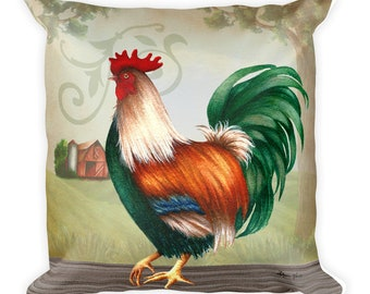 Farmhouse Rooster Pillow