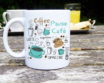 Mug with personalized, coffee, tea, cappuccino!  Original and personalized gift, Cup mug