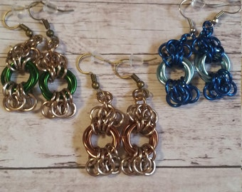 Butterfly Chainmaille earrings