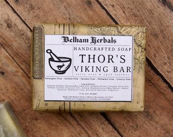 THOR's VIKING BAR | thor, beard soap, shampoo bar, shave soap, gifts for men, mens soap, gift for him, vegan soaps, artisan soap, soaps