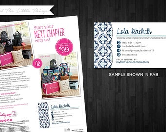 NEW Spring Patterns | Customized Catalog Labels with Photo Option for Thirty One | Digital Download Print Yourself