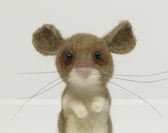 Needle Felted Animal: Mouse