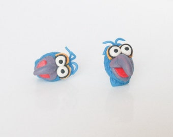 Muppet Show - Gonzo - new handmade lightweight earrings