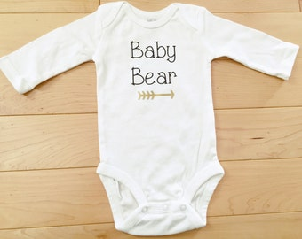 Baby Bear Bodysuit / Gender Neutral / Woodland / Grizzly / Hunting