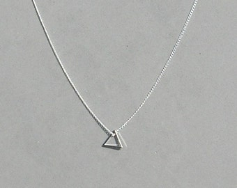 Floating Triangle Necklace