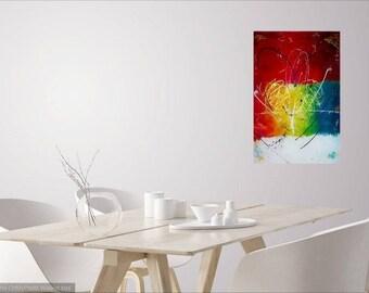 Swirl of joy, painting abstract, contemporary art, acrylic