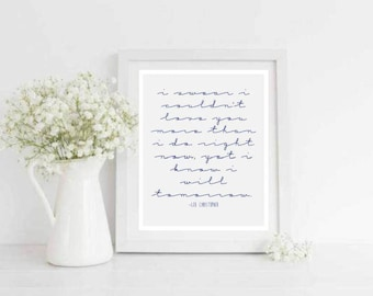 Couldn't Love You More Love Quote Printable