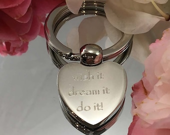 Personalised ENDLESS LOVE heart shape keyring