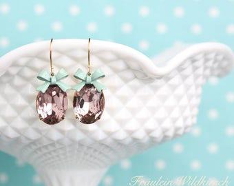 """""""Old-lady"""" fine Scheifen earrings mint Purple Gold"""