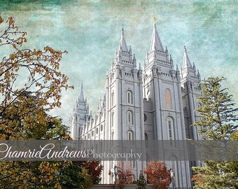 Salt Lake LDS Temple - Instant DIGITAL DOWNLOAD - Large Temple Print