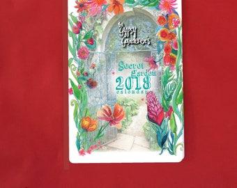 2018 Calendar on SALE , Boho Art, 2018 Wall Calendar, Colorful, Floral Art, Unique, Desk Accessory