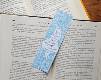 Alice in Wonderland - Six Impossible Things - Bookmark