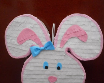 Bunny Rabbit Head for Bunny lovers or Easter Celebration  Pull string Pinata