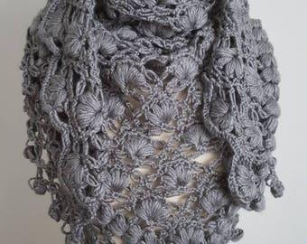 Gray Shawl, Crochet Shawl, Bridal Bolero, Handmade Cape, Bridal Wrap, Gray Bolero, Unique Shrug, Gray Wrap, Wedding cape