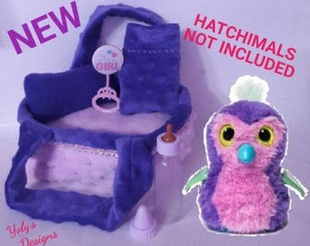 7 Pcs Mosses Bed Clothes FOR Hatchimals Glittering Garden-Sparkly Penguala, Owlicorn,Burtle,Draggle