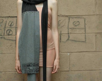 Gris Wool Scarf, Winter Fashion Accessories , Made to Order