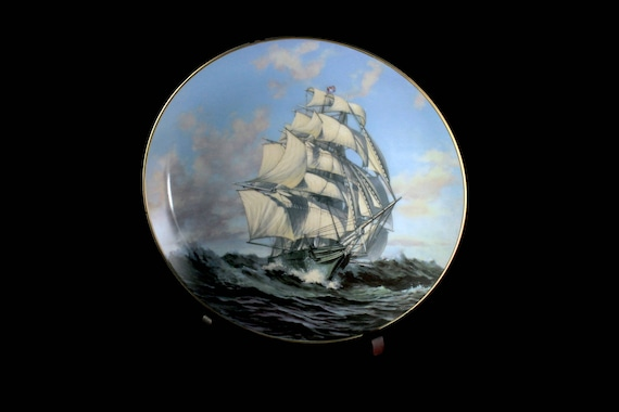 1981 Collectible Plate, Thermopylae, The Great Clipper Ships Collection, Limited Edition, Decorative Plate, Wall Decor, Franklin Mint