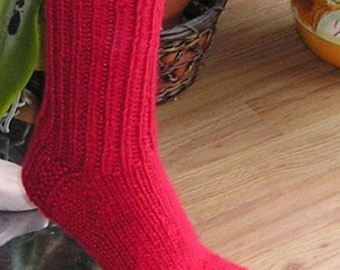 Soft Angora Mohair Sweater SOCKS hand knitted in Red by uniquemohair