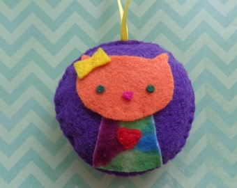 Mrs. Orange Cat Ornament by Pepperland