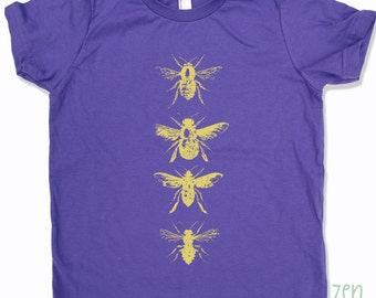 Kids BEES Premium vintage soft Tee T-Shirt Fine Jersey T-Shirt (+Colors) - FREE Shipping