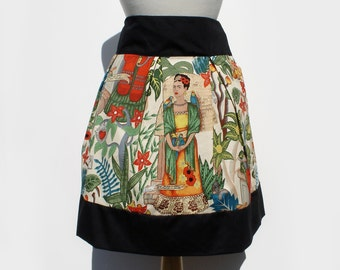 Day of the Dead Mexican Inspired Frida Pleated Skirt