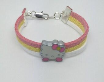 Bracelet suede kitten
