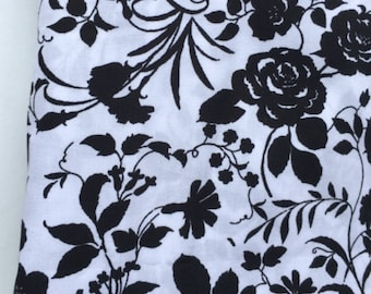 Black and White Floral pocket square