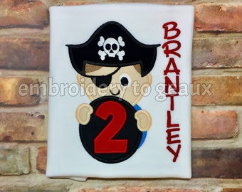 Pirate Birthday Shirt, Boys Pirate Shirt, Toddler Boys Birthday Shirt, Third Birthday Shirt, Birthday Shirt, Boys Birthday Outfit