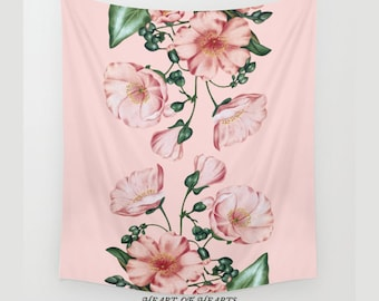 Wall Tapestry, Floral Tapestry, Wall Hanging, Nature Wall Art, Large Wall Art, Modern Tapestry, Home Decor, 51x60, 68x80, 88x104